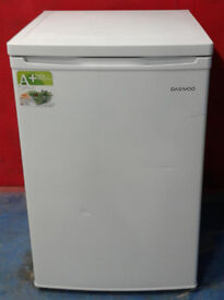 O655 white daewoo under counter fridge with freezer box new graded with manufacturers warranty