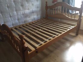 Pine wood double bed! Excellent condition!