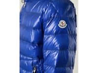 Blue monclear jacket brand new fresh with receipt