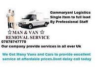 Fully insured man and big van / motorbike recovery/ single item or full load