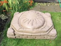 Large Used Sandpit With Cover
