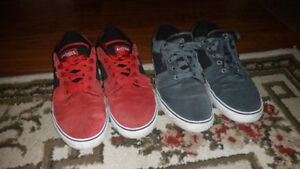 Etnies shoes red and grey
