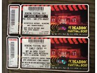 Reading Festival, Early Bird and weekend ticket