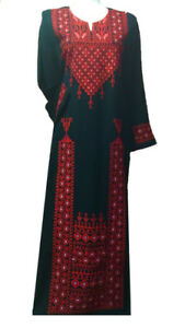 Nouvelle robe brodée palestinienne caftan abaya