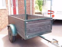 Box Trailer 150cm x 90cm complete with drop down tail gate and lighting