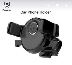 Baseus Car Vent Phone Mount Holder - one-handed operation
