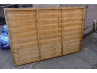 11 of lap panels fences 6ft by 4ft