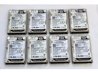 "8 x 500GB 2.5"" Hard drives (7200RPM)"