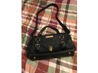 Large Paul's boutique black faux leather bag handbag