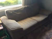 Sofa, chair & footstool - bargain price for quick sale