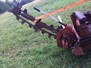 Trencher attachment and vibrator plow off ditch winch 350sx
