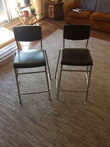Two Bar Stools in Perfect Condition