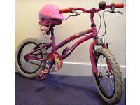 ::::::: KIDS BIKE APOLLO POPSTAR GIRLS BICYCLE + A NEW HELMET :::::::