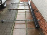Three Bar Roof Rack with ladder roller and pipebox £150 ono