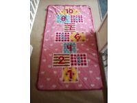 Pink girls rug