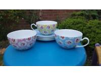 3 x Cath Kidston Cups and Saucers