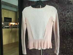 Marciano Peplum Zippered Sweater, Excellent condition!