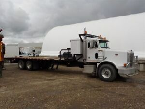 1993 Peterbilt PB357 Flat Deck with Beaver Tail Ramps