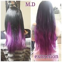 extension capillaire 60$ la pose