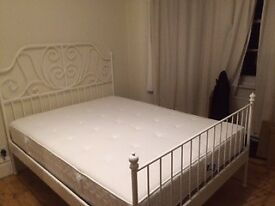 King Size Mattress and Frame, Great condition! VERY COMFY! Pick up only