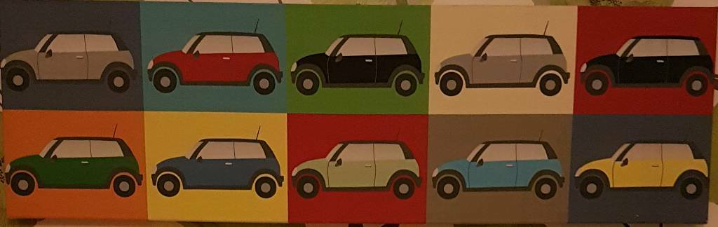 Boys car wall canvasin Merthyr TydfilGumtree - Car canvas purchased from Next No longer required due to redecoration Suitable for a young boys bedroomGood conditionSmoke and pet free home