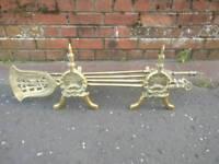 Brass fire companion set