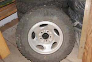 245/75R16 a/t ford f150 tires and rims