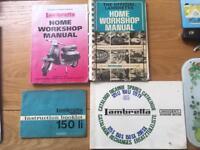 Lambretta instruction booklet and workshop manuals