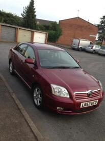 Toyota Avensis 2003 reg 5 door hatchback red colour low miles67000 good condition