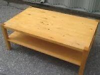 Norrebo IKEA Pine Two Tier Pine Coffee Table