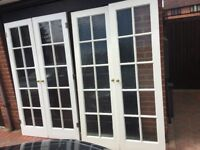 Internal Doors - Solid white hard wood with glass panels - Customer pick-up