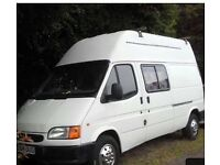 Ford transit campervan for sale. Mot'd April 2018. Complete with driveaway awning, freeview Tv.
