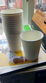 400 white disposable paper cups 12 fl.oz. capacity - parties, events, weddings