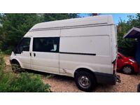 Campervan, Ford Transit, Sleeps 3, onboard cooker, sink/running water, fridge,leisure battery, loo.