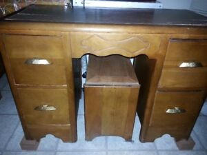 Antique Waterfall vanity Desk