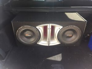 """2 - 10"""" Hertz subs and box -$80"""
