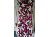 Pink floral bridesmaid dress size 16