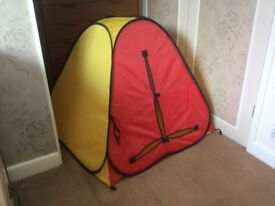 PLAY TENT. Colourful - pops up - easy to store.