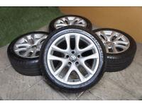 "Genuine VW Donington 17"" Alloy wheels 5x112 Golf Passat EOS Scirocco Caddy Audi A3 A4 Alloys"