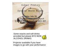 Sober Poetry & Spoken Word Night Deptford
