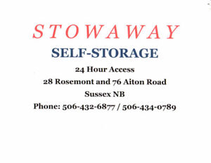 Stowaway Self Storage  76 Aiton Road and 28 Rosemont Ave