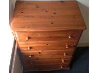 Marks & Spencer Solid Pine 5 Drawer Chest of Drawers with Bun Feet - Immaculate