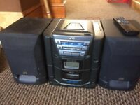JVC 3 in 1 CD, tuner and cassette
