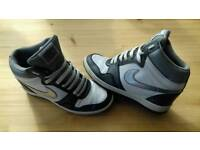 Genuine Nike wedged trainers size 5