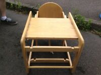Childs feeding chair and table