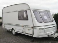 2 berth 1994 Swift Silhouette Diamond Some damp, reasonable cond. Motor mover, stabilisor,porch awn.