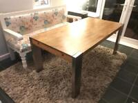 Solid Oak Table with Stainless legs from Made RRP £599