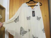 Ladies butterfly blouse - Unique Design - Size M