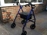 Walking aid for elderly or handicapped.
