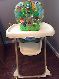 high chair with toy activity centre